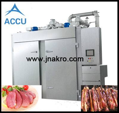 Commercial electric meat and sausage smoker oven, meat smoking and cooking chamber, fish smoking mac