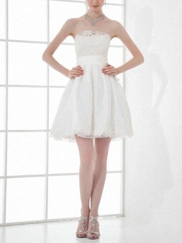 Fashionable Ivory Taffeta Cocktail Dress Short A Line Party Dress