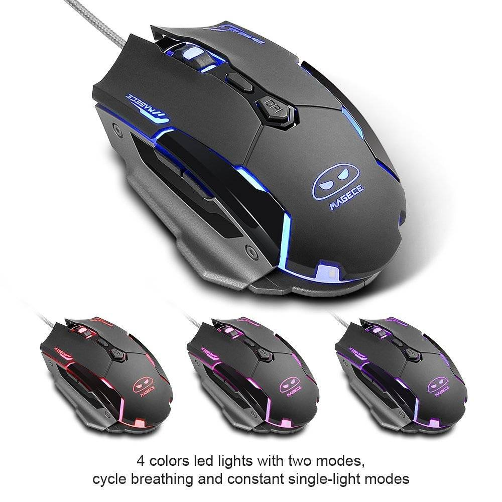 G2 Gaming Mouse 6 Buttons 3200 DPI Professional LED Optical USB Wired desktop mouse