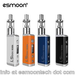 Esmoon temp control ecigs LS50W box Starter kit all in one device