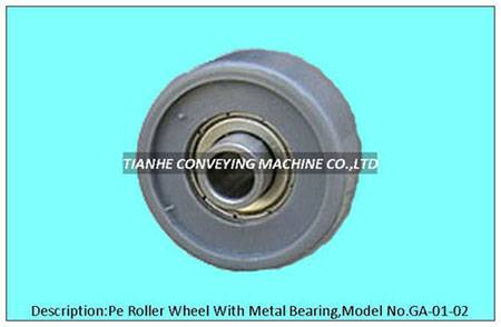 pe roller wheel with precision bearing, pe skate wheel with precision bearing, pe track wheel with p