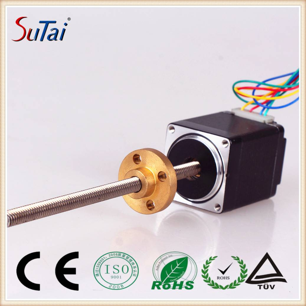 28mm External Drive Linear Stepper Motor , Linear Actuator Motor with Lead Screw