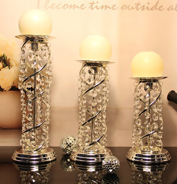 Wedding centerpiece silver 3 size candle holder wholesale