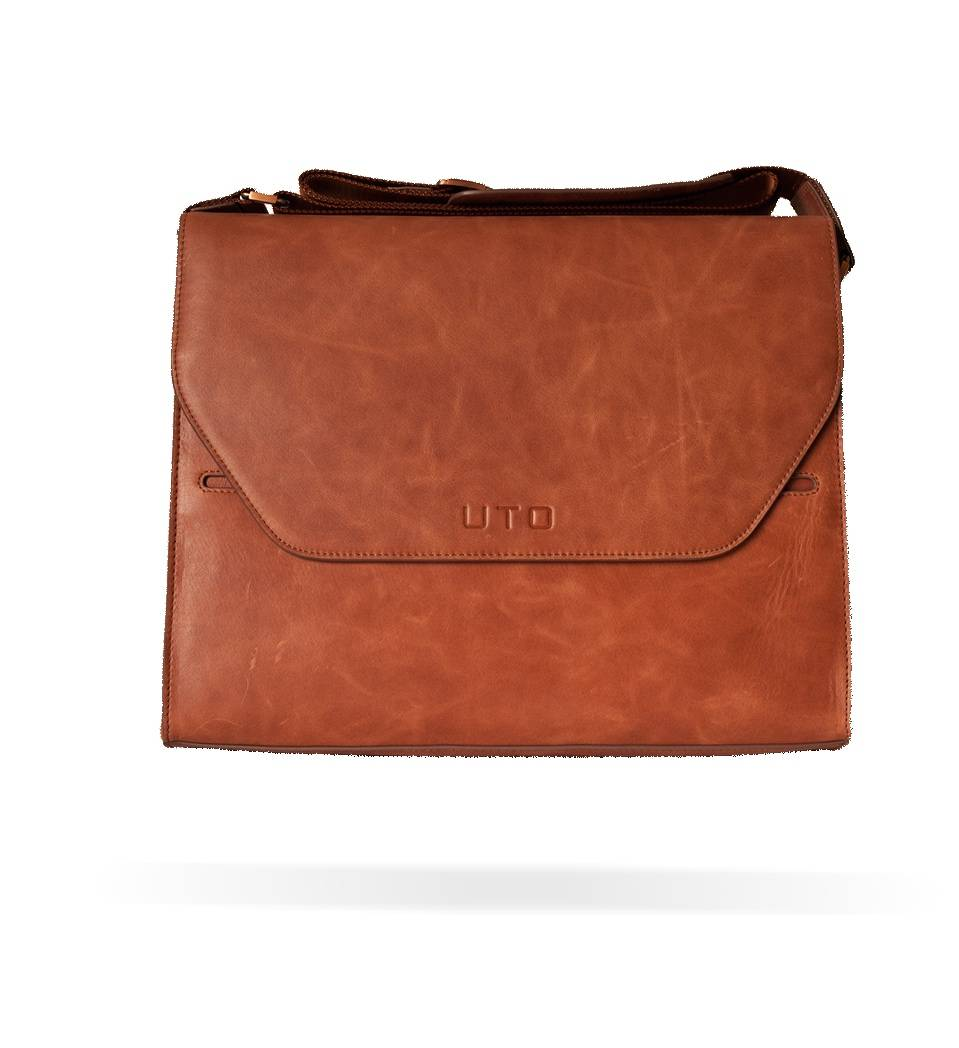 Uto Imperial Leather Messenger Bag