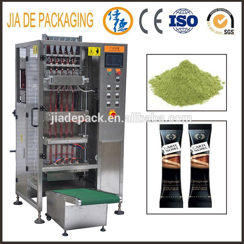 multi lane powder/coffee powder sachet stick packing machine