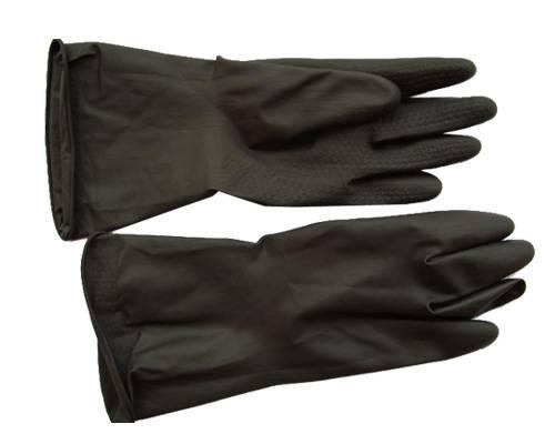 Long Safty Black industrial rubber gloves working gloves