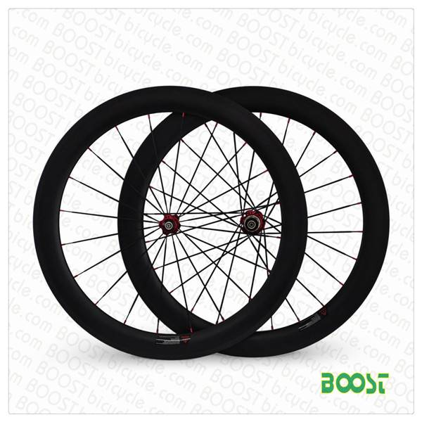 OEM factory 700C 60mm tubular Carbon road bike wheelsets 23mm width export USA products form boostbi