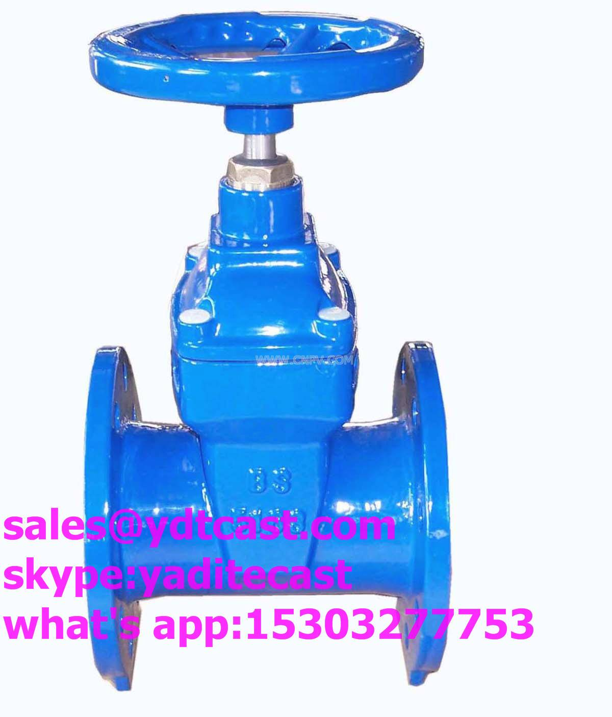 din3352 f4/f5 gate valve DN40-200 soft seal no-rising