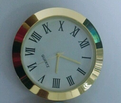 2inch insert clock 50mm metal insert clock