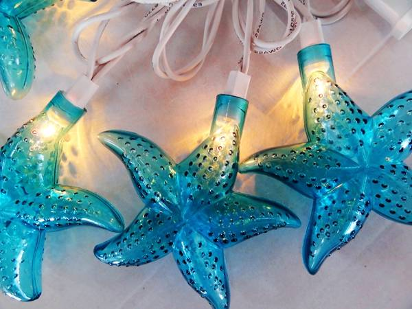 UL 120V PVC wire LED light string with starfish cover