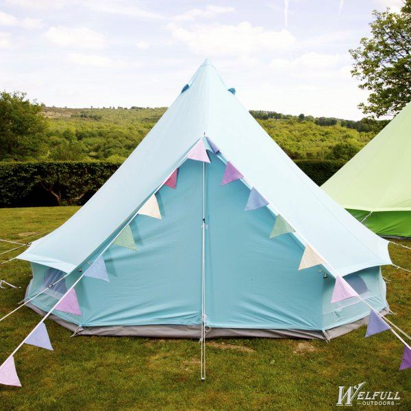Colorful Canvas Family Bell tent