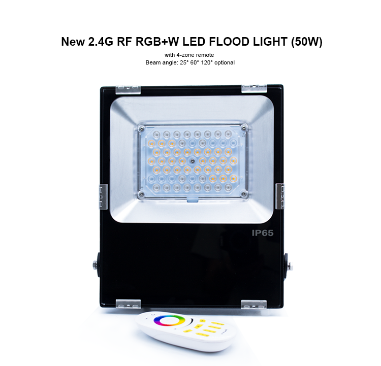 mean well driver pccooler cover aluminum tough glass gledopto 50W new designed RGBW RGB led floodlig