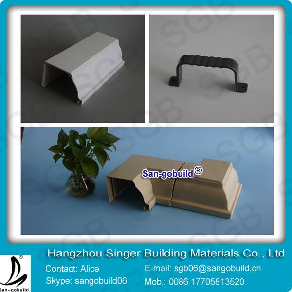 5.2Inch SGS Test Widely Use In Africa Market White Color PVC Rain Gutter