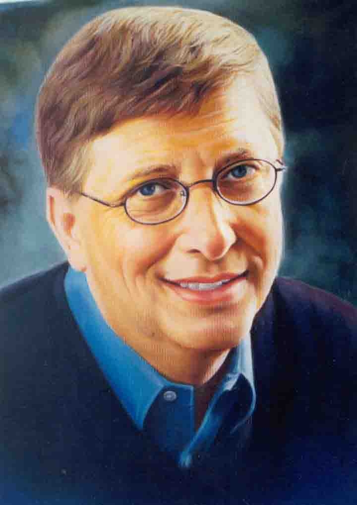 PAINTING PORTRAIT OF MR.BILL GATES