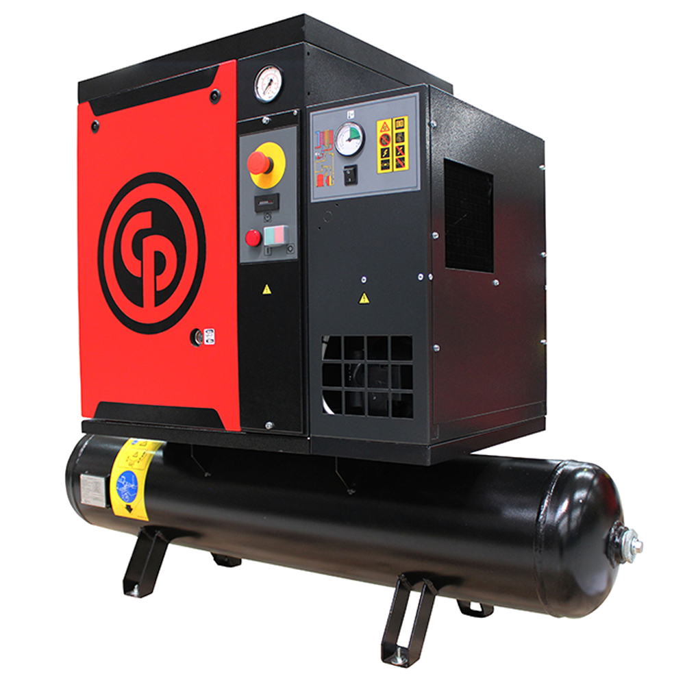 Chicago Pneumatic Quiet Rotary Screw Air Compressor - 7.5 HP, 230 Volts, 3 Phase, Model# QRS7.5HP-3