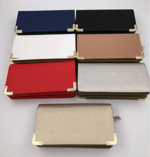 2017 hot sale beautiful lady wallet PU wallet hand bag lady purse