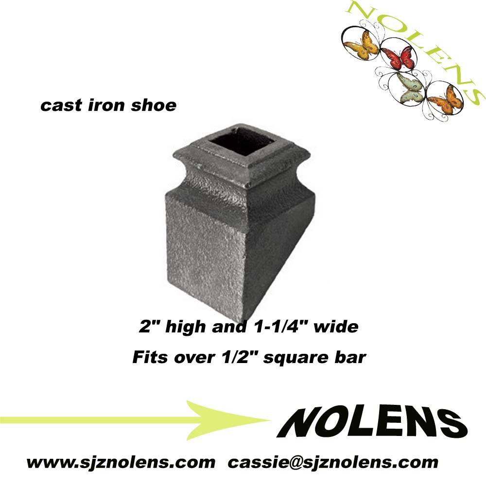 """Ornamental iron collar and bushings/ Cast Iron Base Shoe for 1/2"""" Square Bar"""