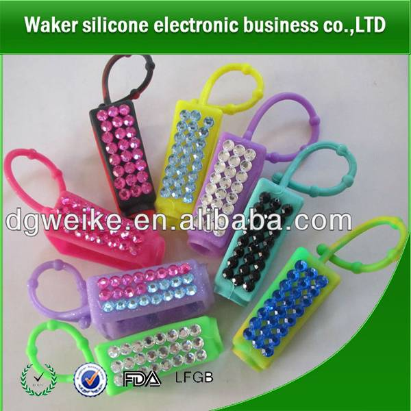 High quality beautiful design silicone hand sanitizer holder