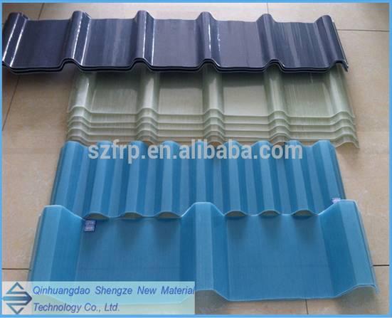 Anti-corrosion UV resistance fiberglass skylight panel from Qinhuangdao Shengze