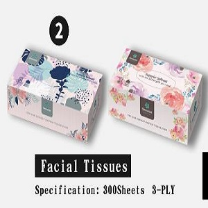 Free Samples OEM Factory Customized Wood Plup 2ply Box Facial Tissue Napkins Toilet Paper Roll