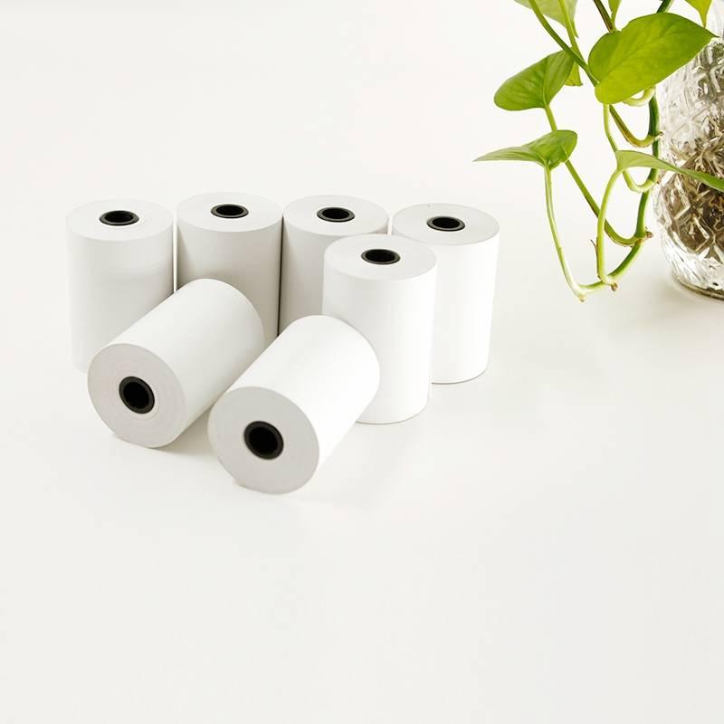 receipt paper rolls 57x50x12mm, 55gsm