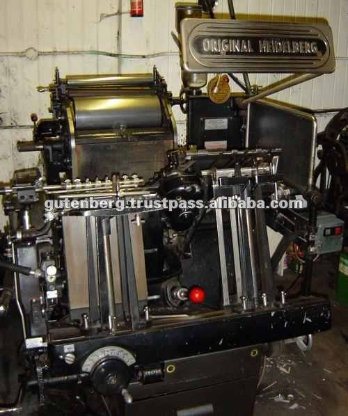 Heidelberg Windmill Platen Used Printing Machinery