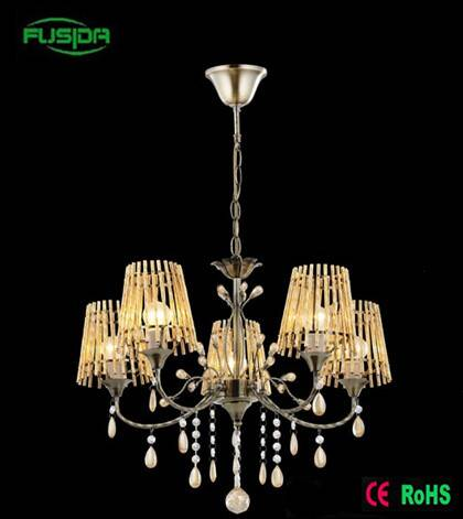 2016 new design Die casting Copper glass type chandelier lamp crystal candelier light
