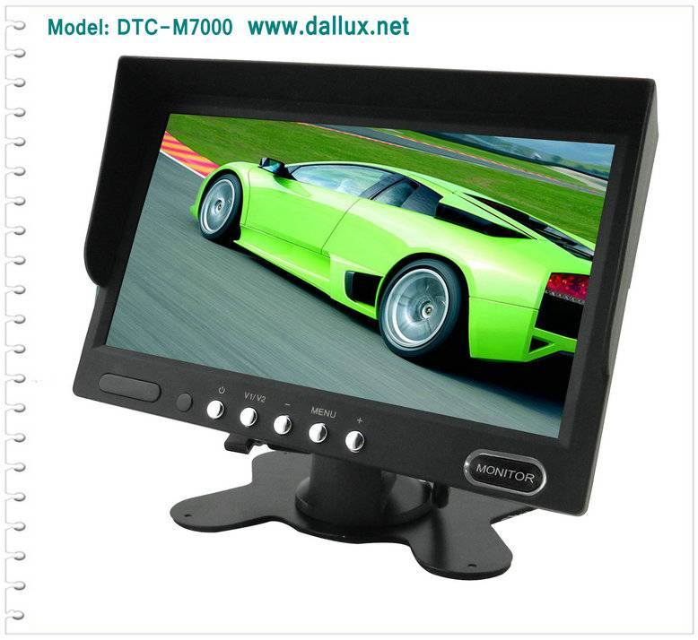7 inch Auto reverse LCD Monitor