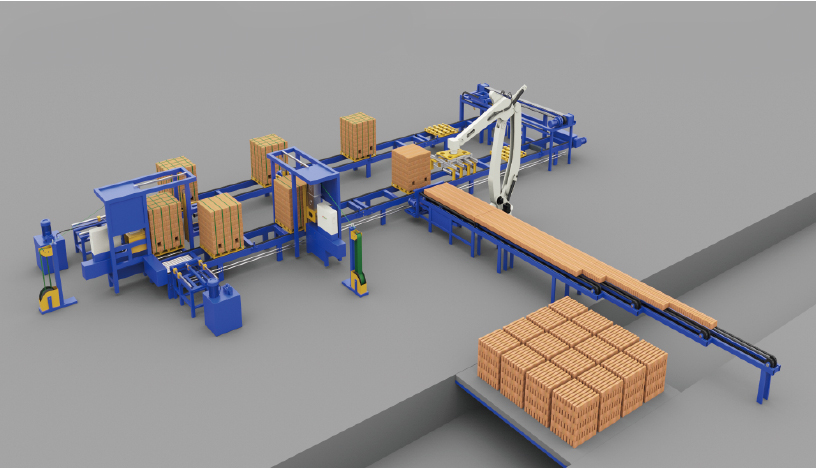 ZYX Series Full Automatic Brick Unloading, Setting and Packing Machine