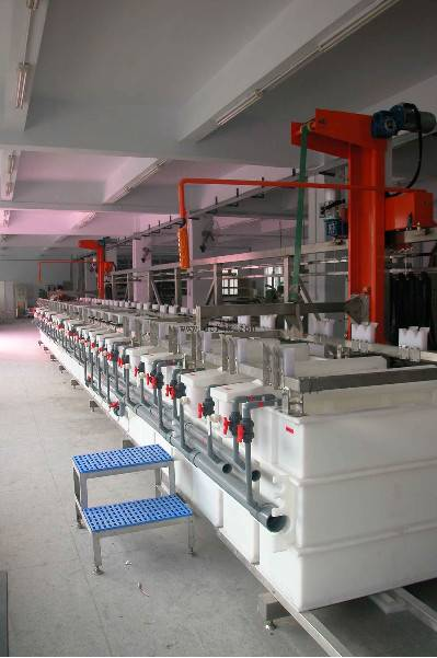 Hanging-arm Rack Plating Production Line Zinc Plating Machine Phone cases Plating Line