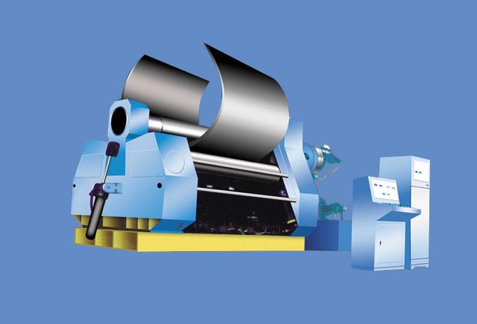 W12 Series Rolling Machine with Four Rollers
