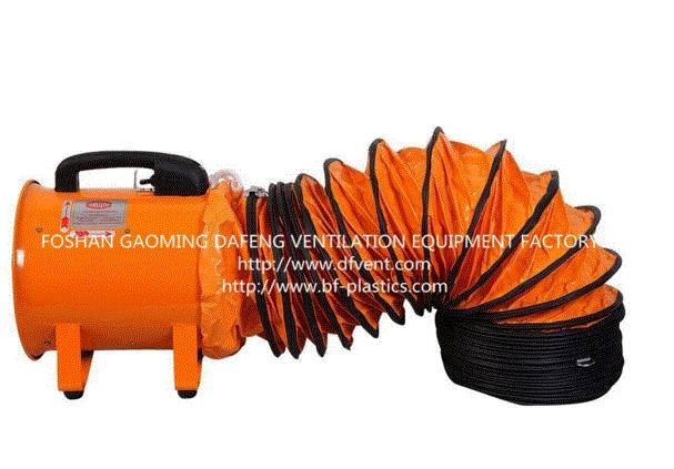 Orange Color Flexible Ventilation Duct 4''-60''