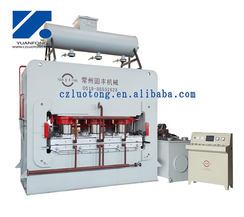 high speed hot press for melamine MDF/HDF