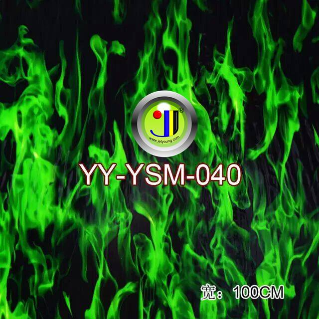 Water Transfer Printed Film Hydrographic Printed Flame pattern Jetyoung