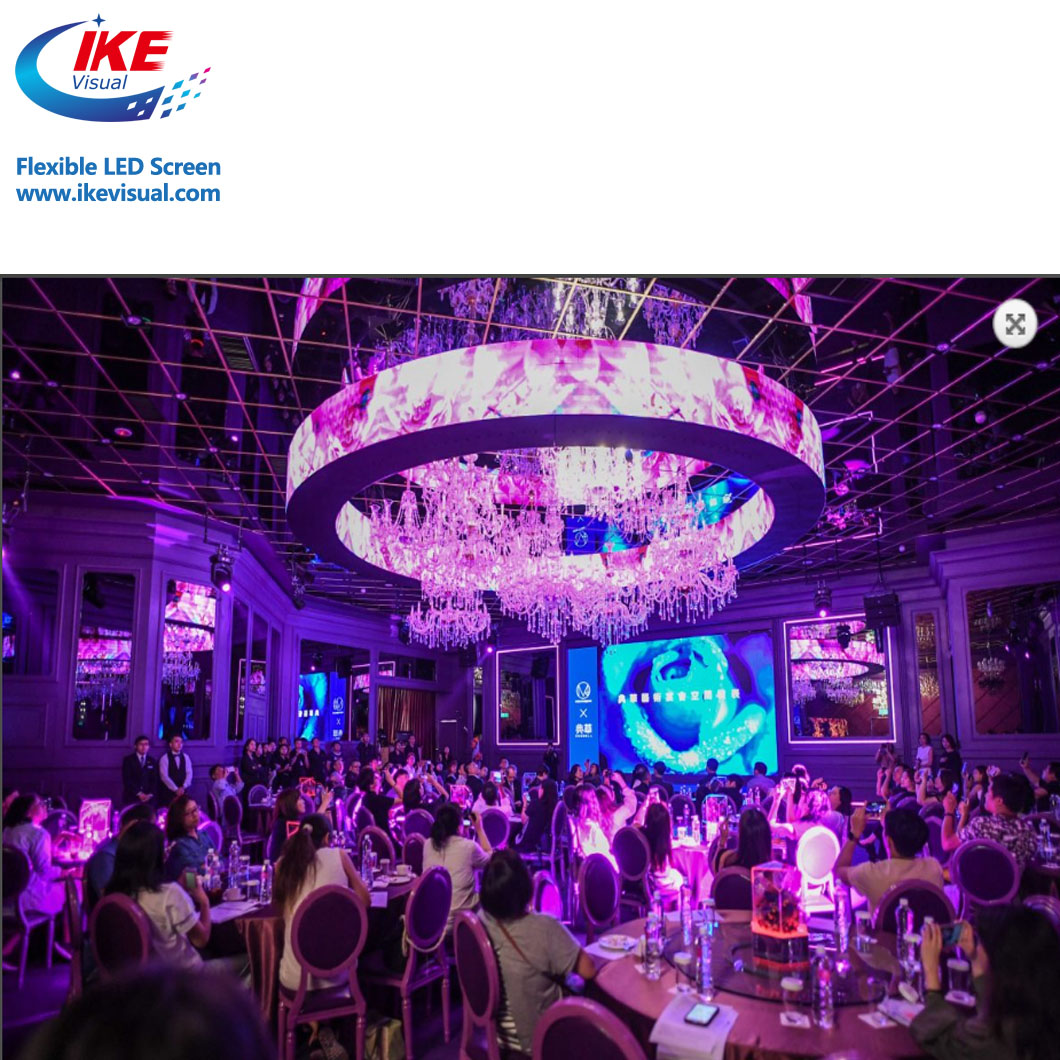 indoor creative full flexible rental and fixed-installation curved smd led display