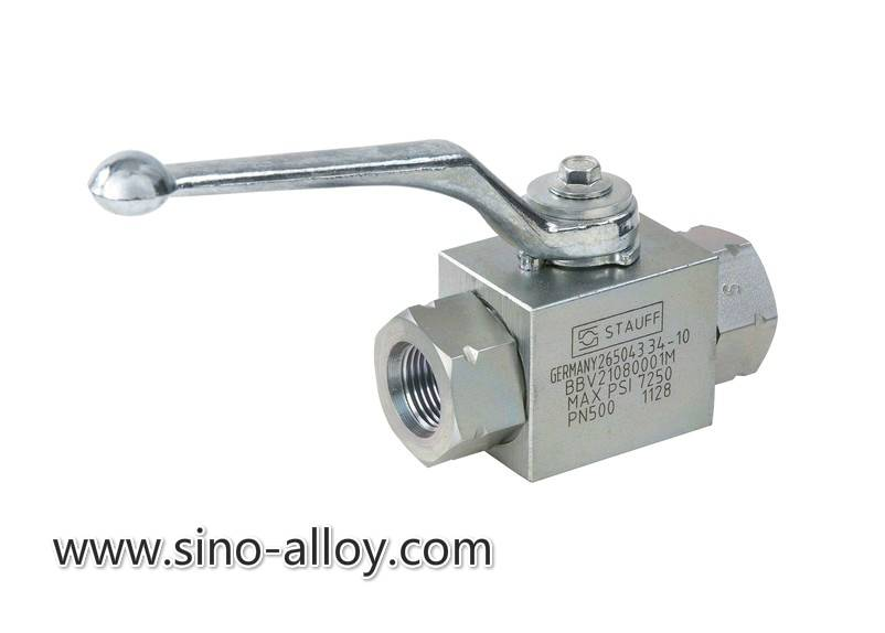 2-way ball valve max. 800 bar