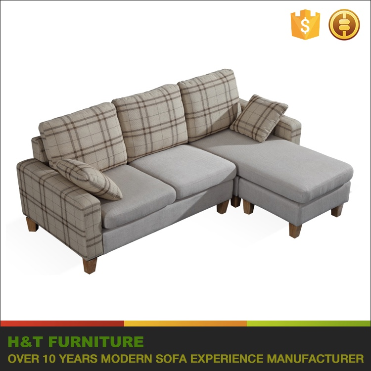 Small Sectional Sofa Cheap Fabric Sofa Small Sofa For Small Room With Ottoman For Sale H211