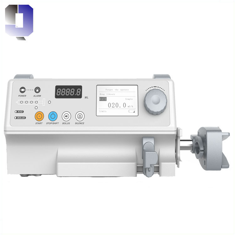 Single channel Syringe pump Compatible with any brand of syringe Purge, Bolus, Anti-bolus and KVO fu
