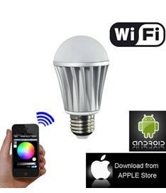 RGBW bulb bluetooth led lamp strobe light,IOS and Android application for led strobe light