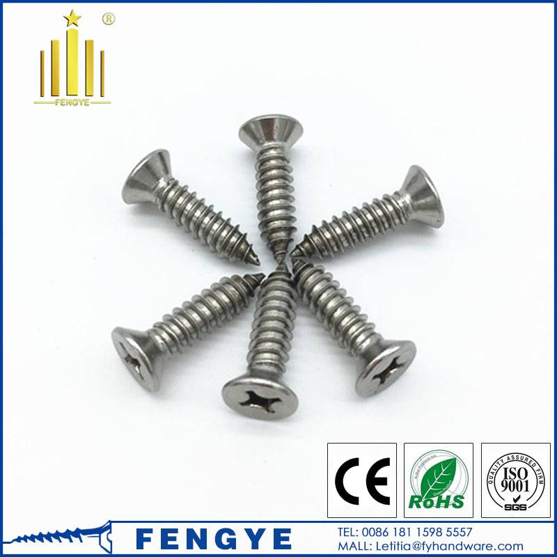ss316 countersunk self tapping screw M4*150