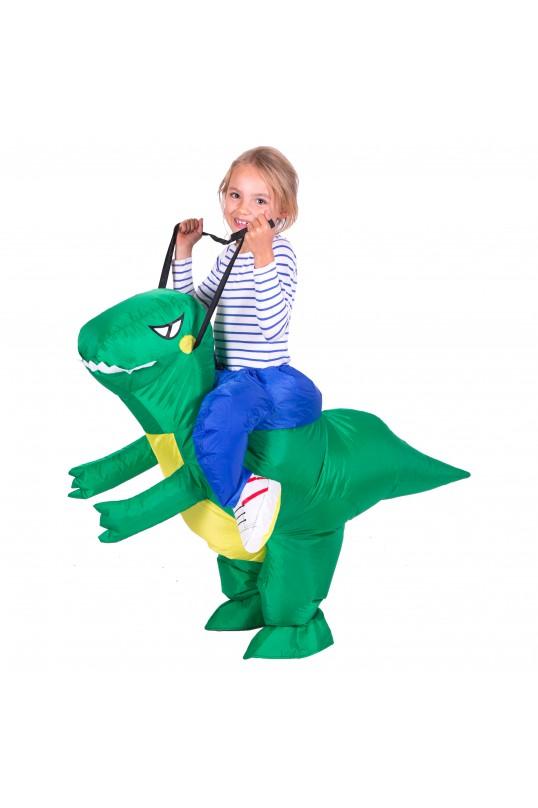 Fun inflatable T rex costume