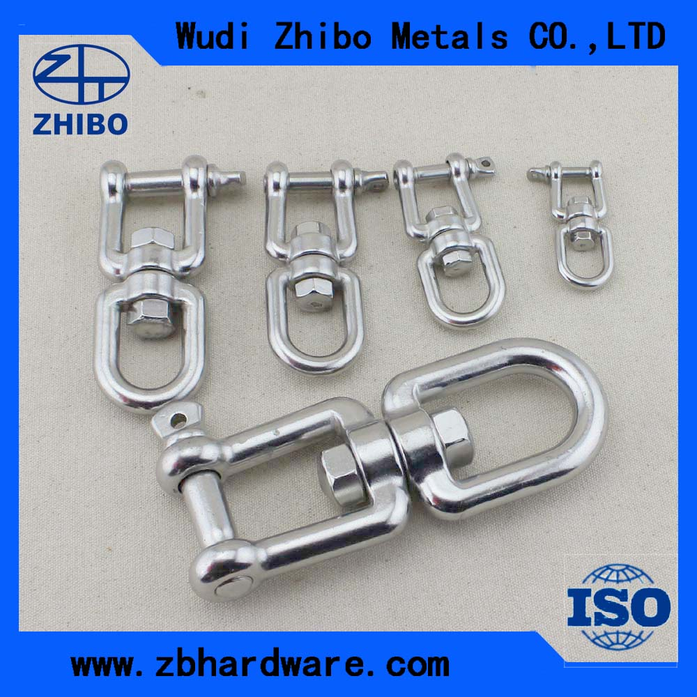 Marine Hardware Stainless Steel European Type D Shackle Jaw and eye swivel