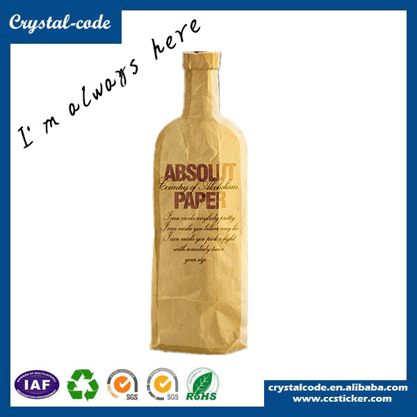 Professional design and reliable luxury paper bag,wine paper bag