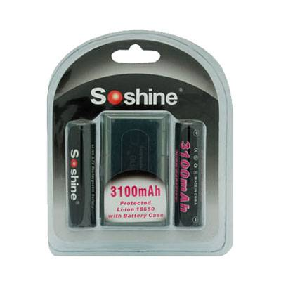 Soshine 18650 Li-ION 3.7V 3100mAh Battery