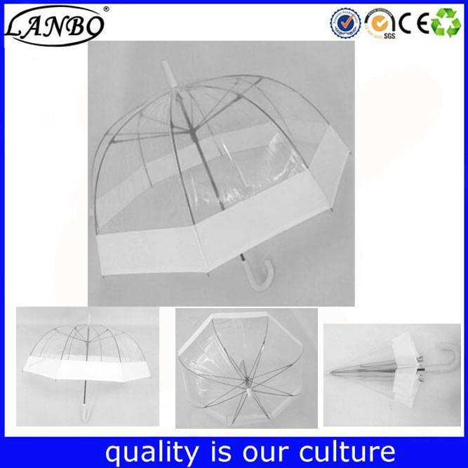 POE Material transparent umbrellas Type i love AKA transparent umbrellas
