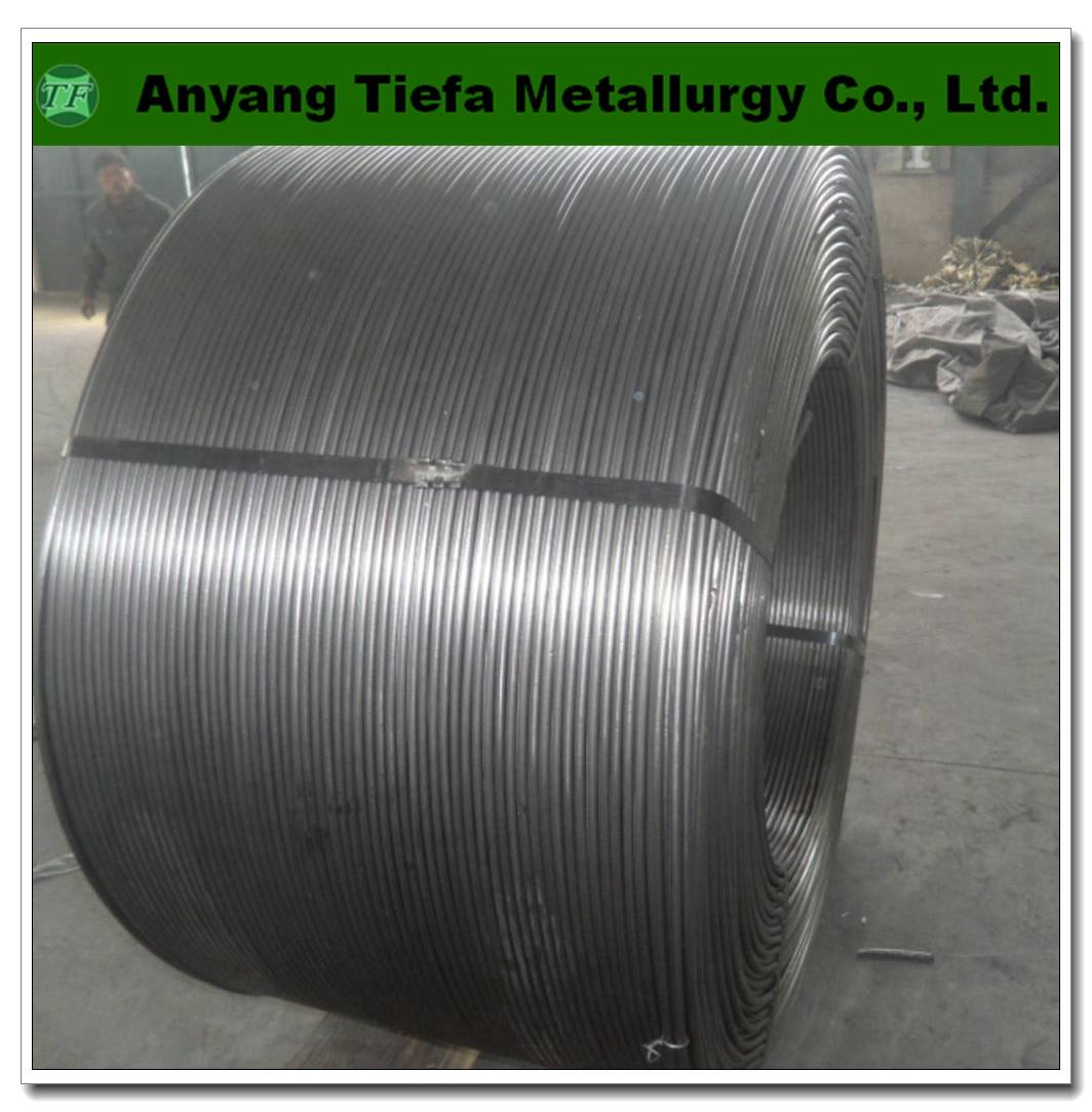 calcium silicon cored wire , CaSi alloy powder cored wire