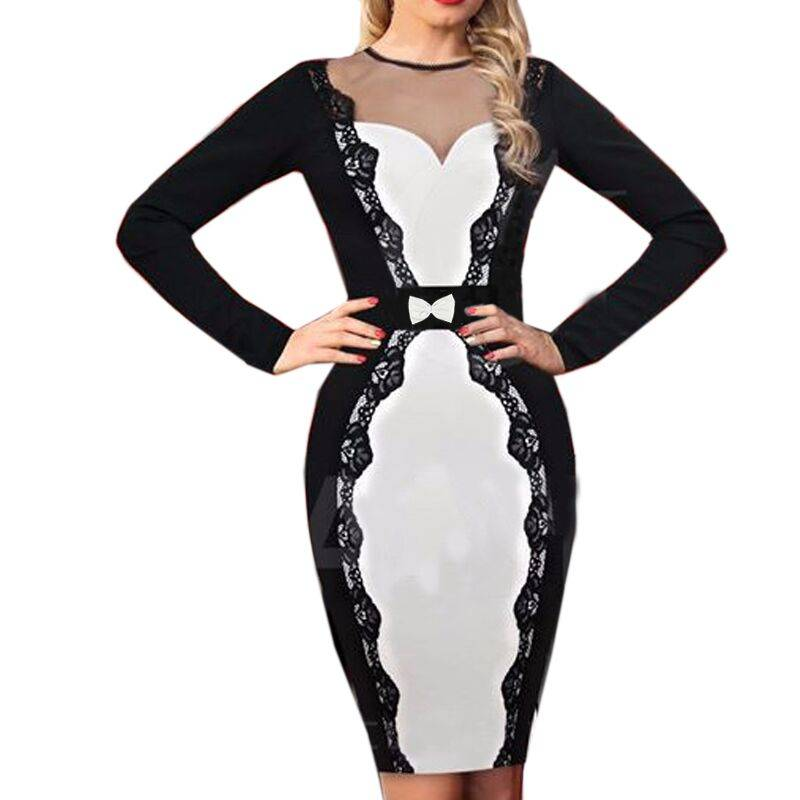 Women Casual Bandage Dress 4488
