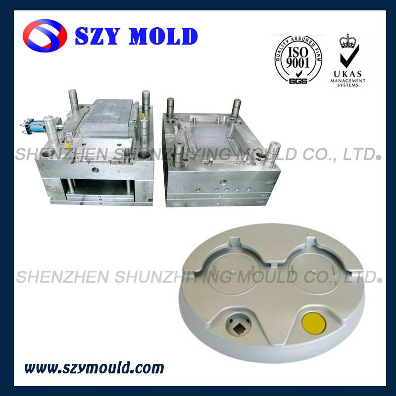 Double Plastic Ice Bucket plastic injection mold design and manufacture