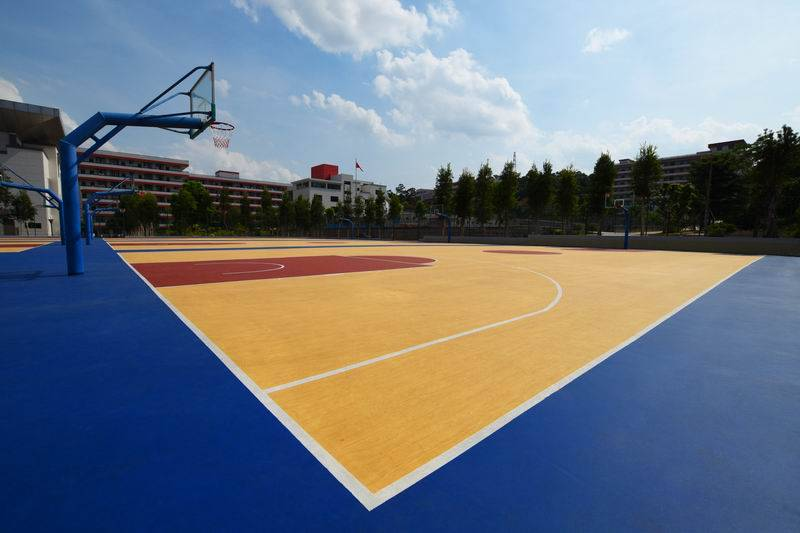 CN-S04 Crystal Basketball Flooring-Wooden Texture style