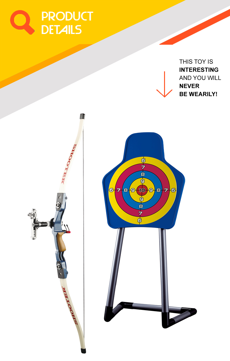 Indoor shooting target game professional bow and arrow set for kids